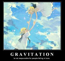 Kagamine Twins - Gravitation by emgee-chan