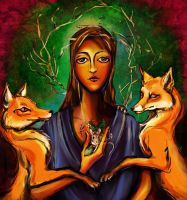 Madonna of the Foxes by joeyv7