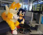 Tails Plays Sonic 2 (2) by refira