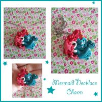 Mermaid Necklace Charm : Sea of Swirls by FantasySystem