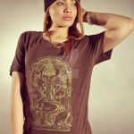 Gold Ganesh Unisex Tee 3 by piratesofbrooklyn