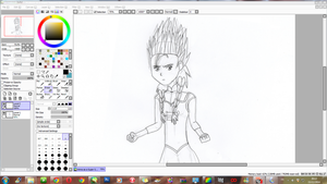 WIP - Anna as a Super Saiyan 2 (SSJ2) by JackFrostOverland
