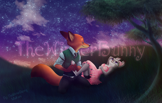 Stars And Paw Rubs - COMMISSION by TheWinterBunny