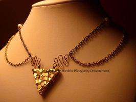 Piece of Triforce Necklace - Courage by GlimmeringStarshine