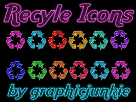 Recyle Glitter Glass Icons by graphicjunkie