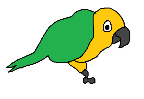 Milo the Jenday Conure by MikeEddyAdmirer89
