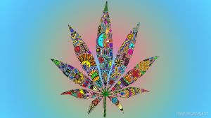 Psychedelic Leaf by Marihuano420