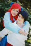 Ariel and her prince by rocknroler