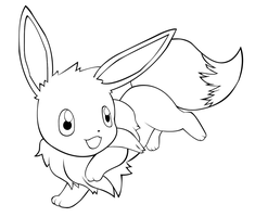 CG Eevee - Line Art by garicosDesign
