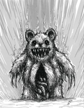 Nightmare possessed teddy bear by TheWhiteSarcophagus