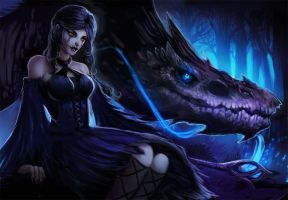 Sorceress and the dragon by magmi