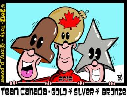 Team Gold Silver Bronze 2012 by tony-p-power