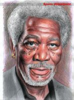 Morgan Freeman by Spomo-U