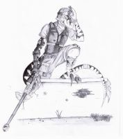 Raptor Sniper Pencilised by Illogical-Lynx