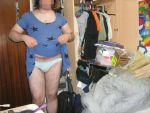 stars patterned blue dress showing panties by aet256