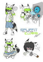 Spliff doodle Sheet by SCIFIJACKRABBIT