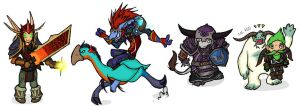 Warcraft Chibis Set9 by feedapollyon