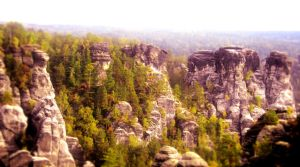 The cliff of Dresden by Voleuro