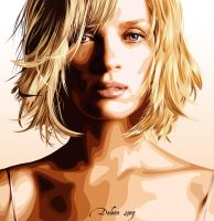 Uma Thurman by Deleonss