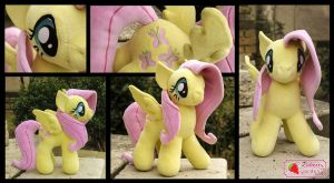 Fluttershy pony plush by SewberryGarden