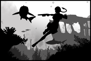 Tomb Raider II - Silhouette Art by ReD8ull