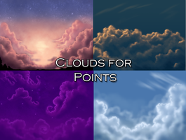 Cloud Backgrounds for Points by Crickatoo