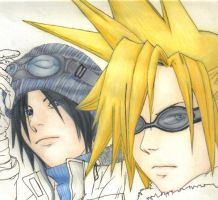 Zack and cloud by TheLizAngel