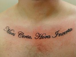 mors certa hora incerta by HowComeHesDead