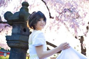 White Dress Haruhi - Ouran Host Club by Mostflogged