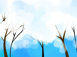 Snowy Trees by ArtisticTsuki