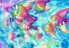 Rainbow Fish by dawndelver