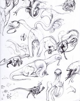Early Gapuri concept sketches by Exobio