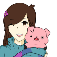 Mabel Pines and WADDLES ASDLFLK by Admiral-Udon