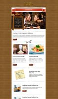 Restaurant Newsletter Template by thebebel