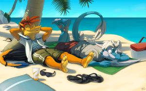 Beach Day by thazumi