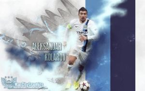 Aleksandar Kolarov Wallpaper by ManCityGraphics