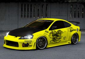 Integra Type-R Street Race Car by gilangkharisma