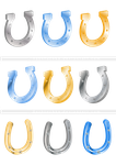 Horseshoes Isolated (Cut Out), Clipart by flashtuchka