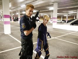 Jill and Wesker by MasterCyclonis1