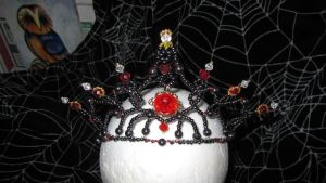 My first completed beaded Tiara by Arachnoid