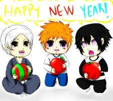 Happy New Year from the SR IR SH babies! by Pamianime