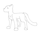 cat lineart by intoxicated-with-paw