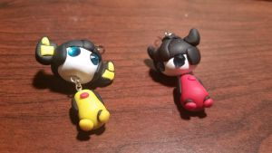 Chibi Chubs: Sunny And Sides Earrings by Laserbot