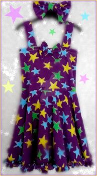 (Wario Party) Glow-in-the-Dark Star Dress by MadameWario