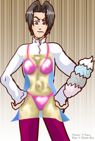.Bikini Babe Edgeworth: by CharlieIsAMystery