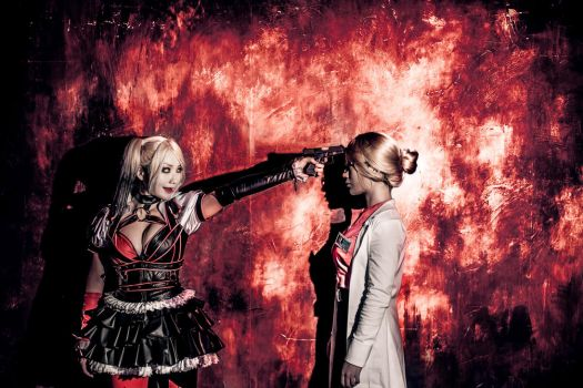 [BAT MAN : ARKHAM KNIGHT] HARLEY QUINN and HARLEEN by pionKOR