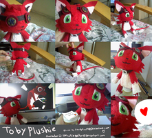 Toby the Helldog plushie by ChicoStyx