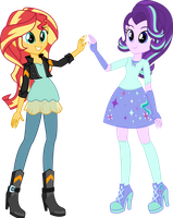 EqG Sunset and Starlight (COMMISSION) by Osipush