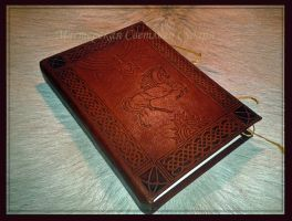Leather Book in process 3 by Svetliy-Sudar