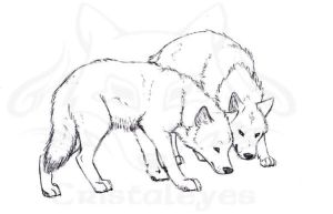 Wolves II by Cristaleyes